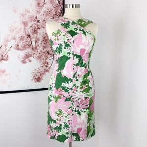 Talbots Woven Garden Floral Sheath Dress